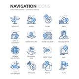 De Pictogrammen van de lijnnavigatie Royalty-vrije Stock Foto's