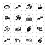 De pictogrammen van de logistiek - BW reeks Stock Foto