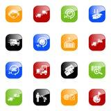 De pictogrammen van de logistiek - kleurenreeks Royalty-vrije Stock Afbeeldingen