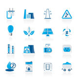 De pictogrammen van de macht, van de energie en van de elektriciteit Stock Afbeelding
