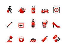 De pictogrammen van de markt Stock Fotografie