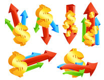 De pictogrammen van de munt Stock Foto's