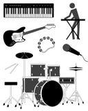 De pictogrammen van de muziek Stock Afbeelding