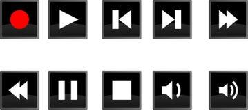 De pictogrammen van de muziek stock illustratie