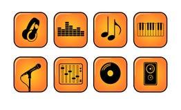 De pictogrammen van de muziek Royalty-vrije Stock Afbeeldingen