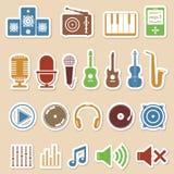 De pictogrammen van de muziek royalty-vrije illustratie