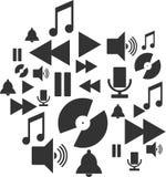 De pictogrammen van de muziek Royalty-vrije Stock Afbeelding