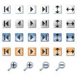 De pictogrammen van de navigatie Stock Fotografie