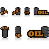 De Pictogrammen van de olie Stock Foto