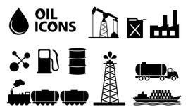 De Pictogrammen van de olie Stock Foto's