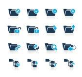De Pictogrammen van de omslag - 1 Azuurblauwe Reeks van // Stock Foto's