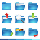 De pictogrammen van de omslag Stock Foto's