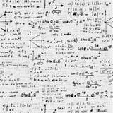De pictogrammen van de onderwijswetenschap terug naar school naadloos patroon. Stock Afbeelding