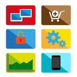 De pictogrammen van de ontwerpkleur Royalty-vrije Stock Afbeeldingen