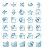 De pictogrammen van de pagina Stock Afbeeldingen