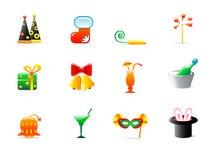 De pictogrammen van de partij Royalty-vrije Stock Foto