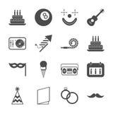 De pictogrammen van de partij royalty-vrije illustratie