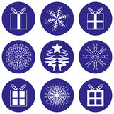 De Pictogrammen van de Pictogrammen van Kerstmis Royalty-vrije Stock Foto's