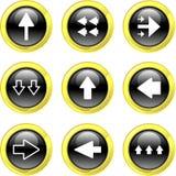 De pictogrammen van de pijl Royalty-vrije Stock Afbeelding