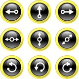 De pictogrammen van de pijl Royalty-vrije Stock Afbeeldingen