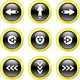 De pictogrammen van de pijl Stock Afbeelding