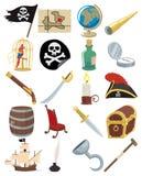 De Pictogrammen van de piraat Royalty-vrije Stock Foto