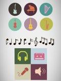 De pictogrammen van de pixelmuziek Royalty-vrije Stock Foto's