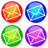 De pictogrammen van de post Stock Afbeelding