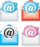 De pictogrammen van de post Stock Foto's