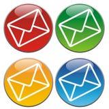 De pictogrammen van de post stock illustratie