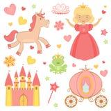 De pictogrammen van de prinses Stock Afbeeldingen