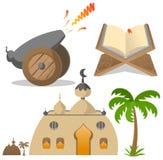 De pictogrammen van de Ramadan Stock Afbeeldingen