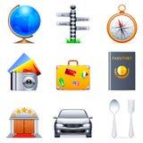 De pictogrammen van de reis. Royalty-vrije Stock Fotografie