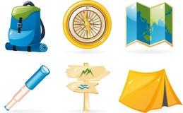 De pictogrammen van de reis Stock Foto