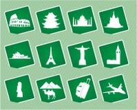 De pictogrammen van de reis Stock Afbeelding