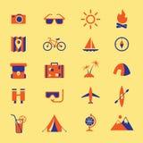 De pictogrammen van de reis stock illustratie