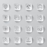 De pictogrammen van de reis Royalty-vrije Stock Afbeeldingen