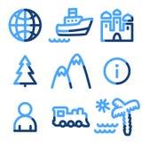 De pictogrammen van de reis royalty-vrije illustratie