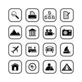 De pictogrammen van de reis en van de Foto - reeks B&W Vector Illustratie