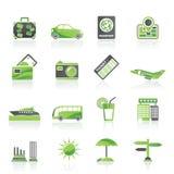De pictogrammen van de reis en van de vakantie Royalty-vrije Stock Foto's