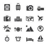 De pictogrammen van de reis en van de vakantie Royalty-vrije Stock Afbeelding