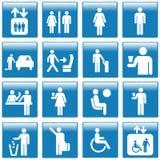 De pictogrammen van de reis en van het toerisme Royalty-vrije Stock Afbeeldingen