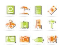 De pictogrammen van de reis, van de reis en van de vakantie Royalty-vrije Stock Afbeeldingen