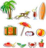 De pictogrammen van de reisvakantie Stock Afbeeldingen
