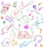 De pictogrammen van de rots Royalty-vrije Stock Afbeeldingen