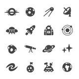 De pictogrammen van de ruimte en van de astronomie Stock Foto
