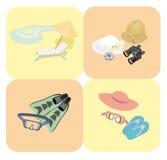 De pictogrammen van de rust en van de reis Stock Foto's