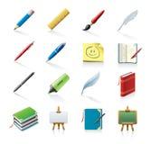 De pictogrammen van de school Royalty-vrije Stock Foto's