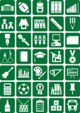 De pictogrammen van de school stock illustratie