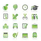 De pictogrammen van de school en van het onderwijs Royalty-vrije Stock Afbeelding